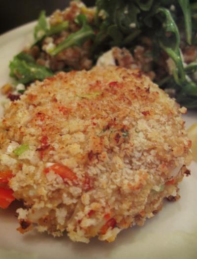 Panko-encrusted crabcake