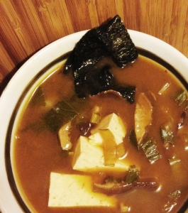shiitake-miso soup